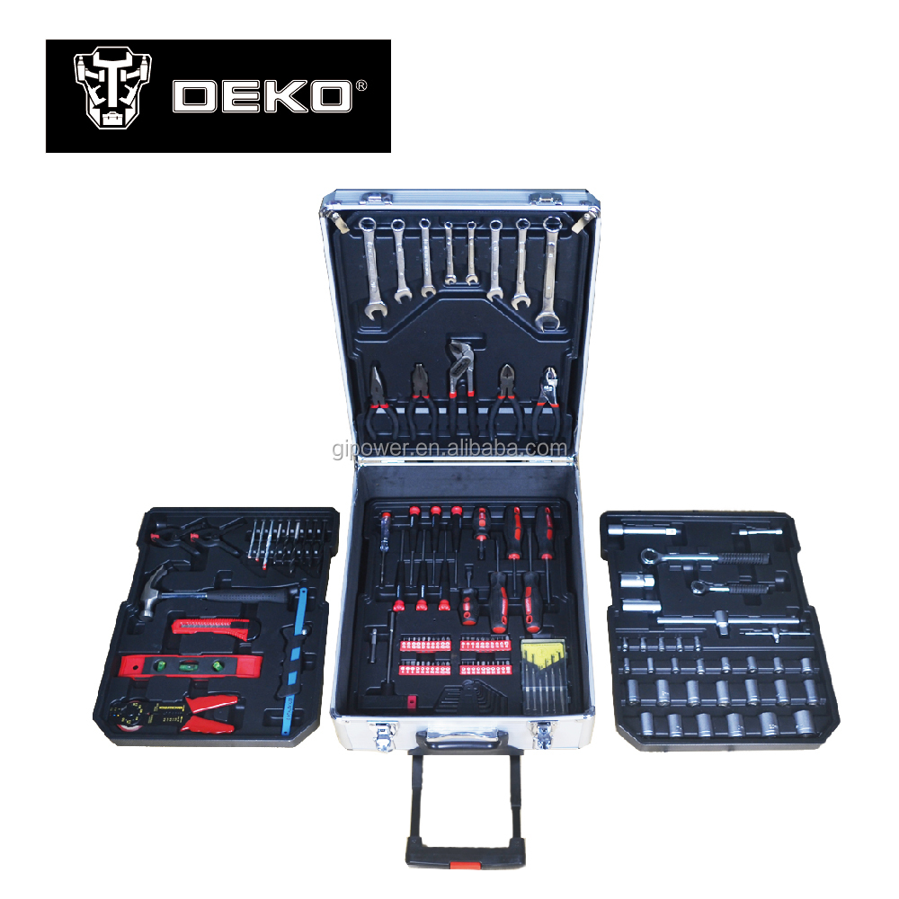 Aluminium trolley case 135pcs hand tool set
