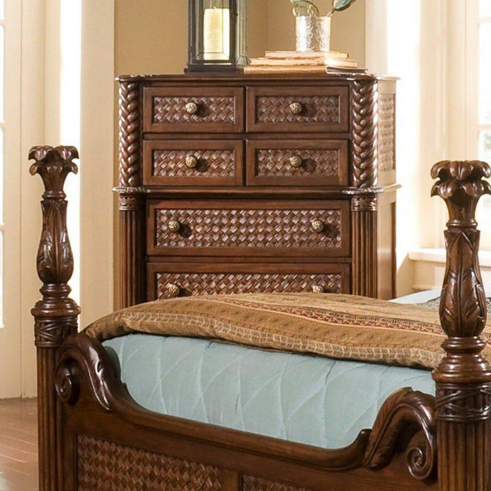 Progressive Furniture P142-14 Palm Court II 7 Drawer Chest 7, 42 x 21 x 53