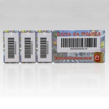 Combo Carte De Visite En Plastique Porte Cls Fob Avec Code Barres