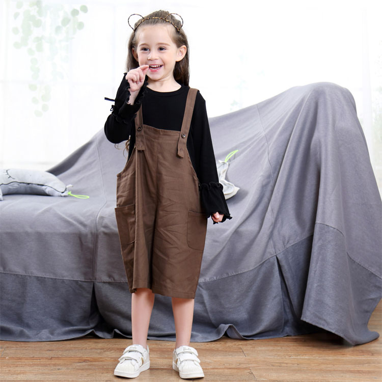 5c1970546 Nueva moda Otoño chica Denim tirantes pantalones tirantes de moda para niñas