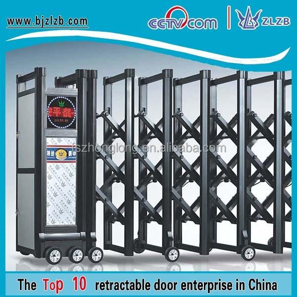 desain pintu gerbang lipat: Gerbang besi model aluminium pintu luar gate lipat otomatis