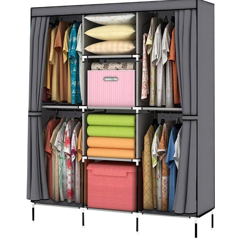Home furniture customized modern style portable wardrobe