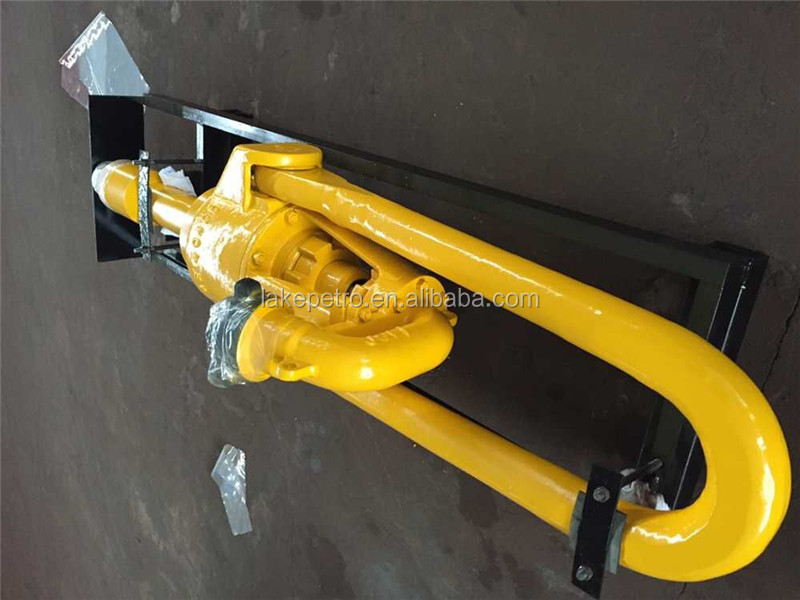 Water well drilling rig swivel with packing and wash pipe
