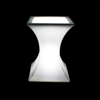Outdoor LED Cocktail Table Illuminated LED Bar Table