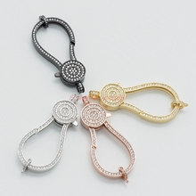 Brass CZ clasp jewelries accessories adjustable jewelry clasp for selling
