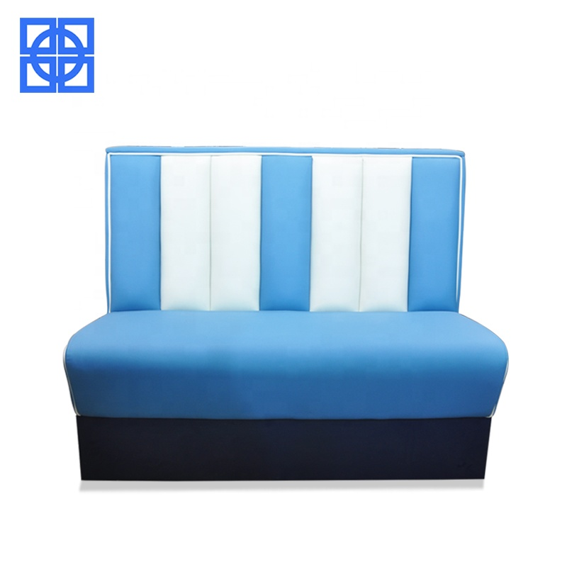2019 Newest modern genuine leather diner retro booth sofa set
