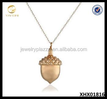 a17b23d75654 14 K Oro Amarillo Collar Bellota Colgante Collar Cadena - Buy Oro ...