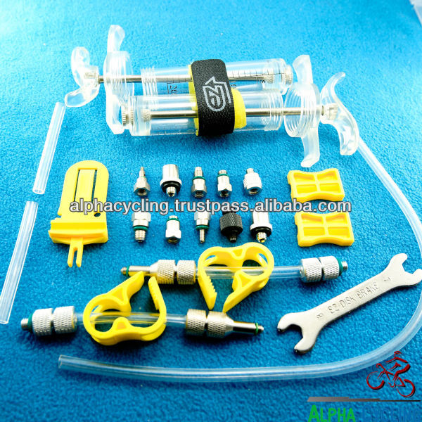 EZ's Hydraulic Brake BLEED KIT For Mineral Oil Hydraulic disc brake System, Disc Brake Maintenance Tools, Master Class tool