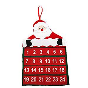 Everyshine 2016 New Year Merry Christmas Santa Claus Calendar Advent Christmas Tree Ornament Hanging