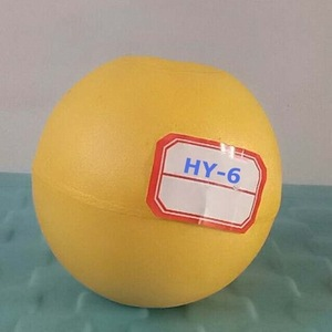 Yellow HY-6 Dia95x15mm fishing net buoy pvc float