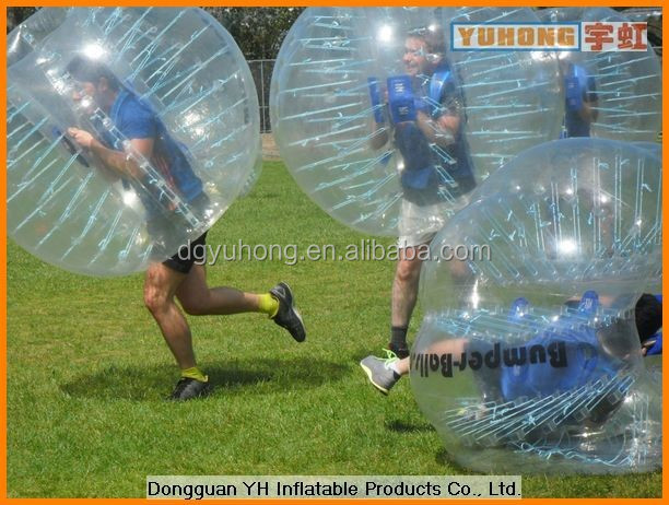 1.0mm PVC inflatable bumper ball soccer bubble for football game