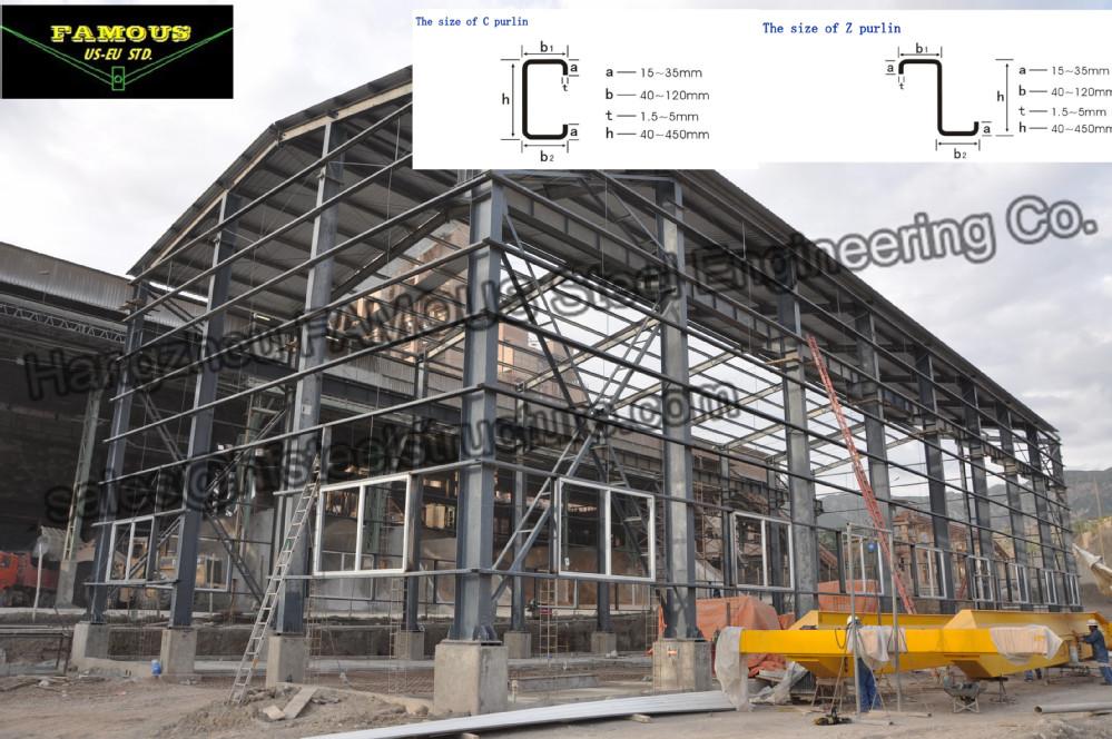 Metal Roof Purlin Z Steel Beam Z Section Steel For