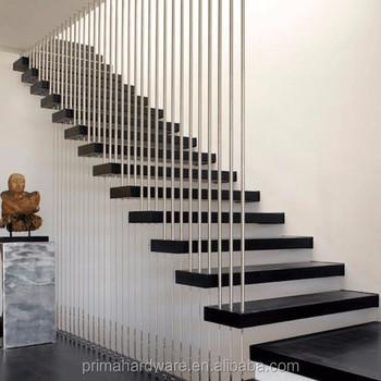 Interior Single Stringer Straight Steel Wood Tread Stairopen Riser Staircase Buy Acacia Wood Stair Treadsresidential Steel Stairsportable Steel