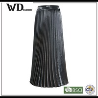 Alibaba express elegant pleated long skirt for lady