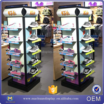 Whole Shoe Display Rack Metal Rotating Shoes For Cabinet