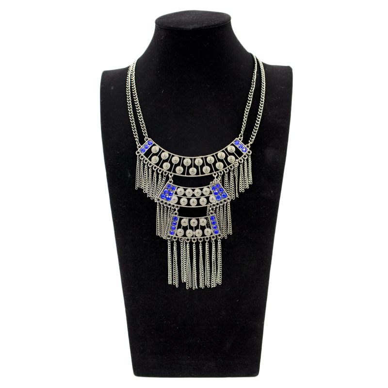 EN0003 JN 2017 brand Fashion collar choker Statement necklace pendants Vintage Coin gypsy ethnic color maxi Necklace Jewelry
