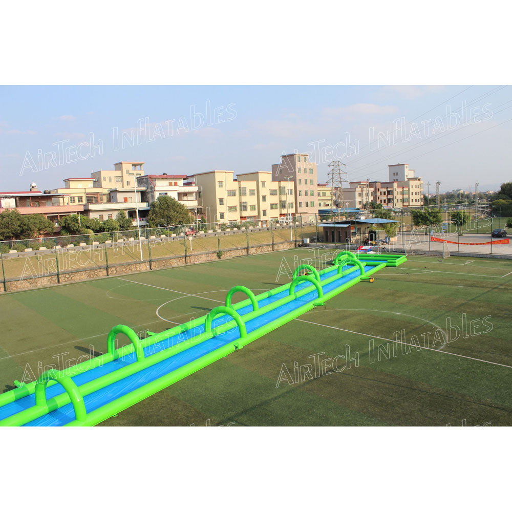 50 meters long water city slide inflatable slip n slide with pool for adults and kids