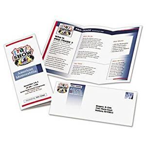 Brand New Avery Tri-Fold Brochures For Inkjet Printers Matte 8-1/2 X 11 White 100 Sheets/Box