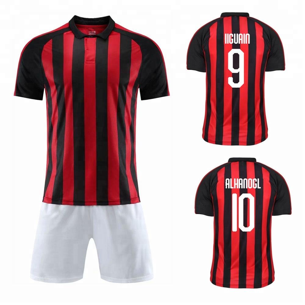 493824a9614 Free Shipping To Milan 2018-19 Soccer Jersey Away Ac Football Shirt ...