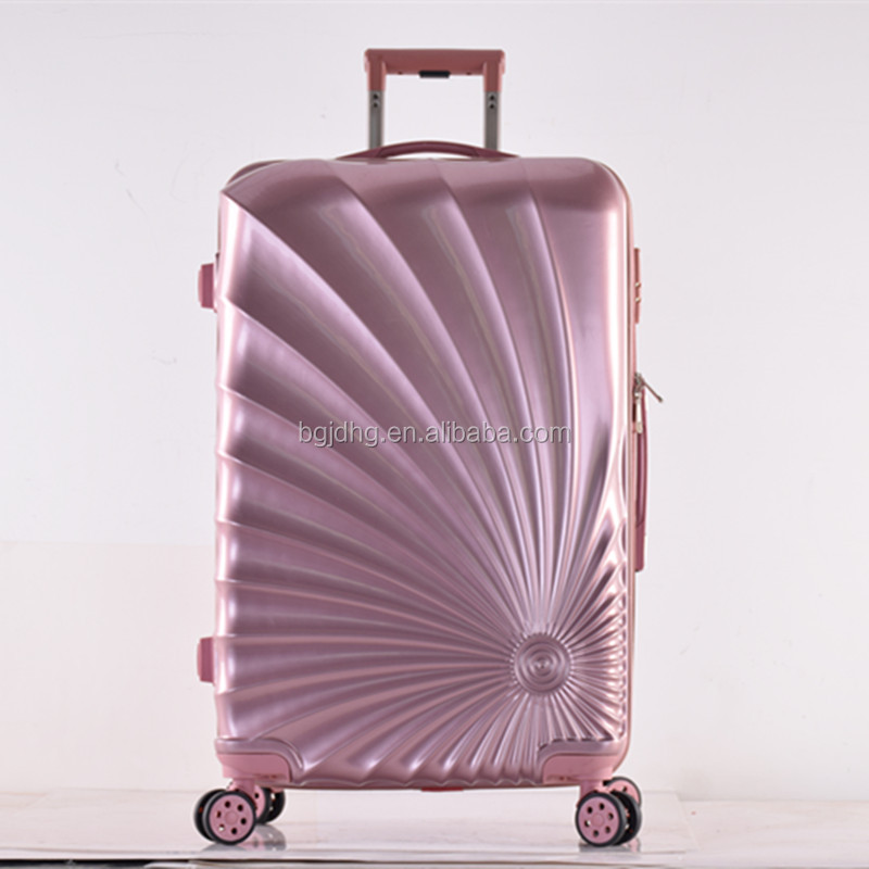 Rose Gold color ABS Fashionable Personality Trolley Luggage