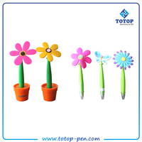 New stytle popular beautiful smart flower ball pen for school