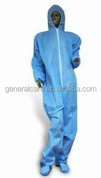 factory wholesale high quality cheap price water proof disposable spp/sms coveralls with hood