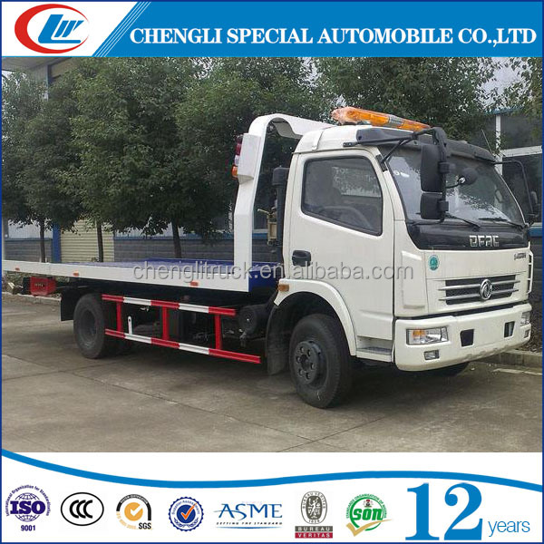 Dongfeng 4*2 Road recovery vehicle tow wrecker car carrier truck for sale
