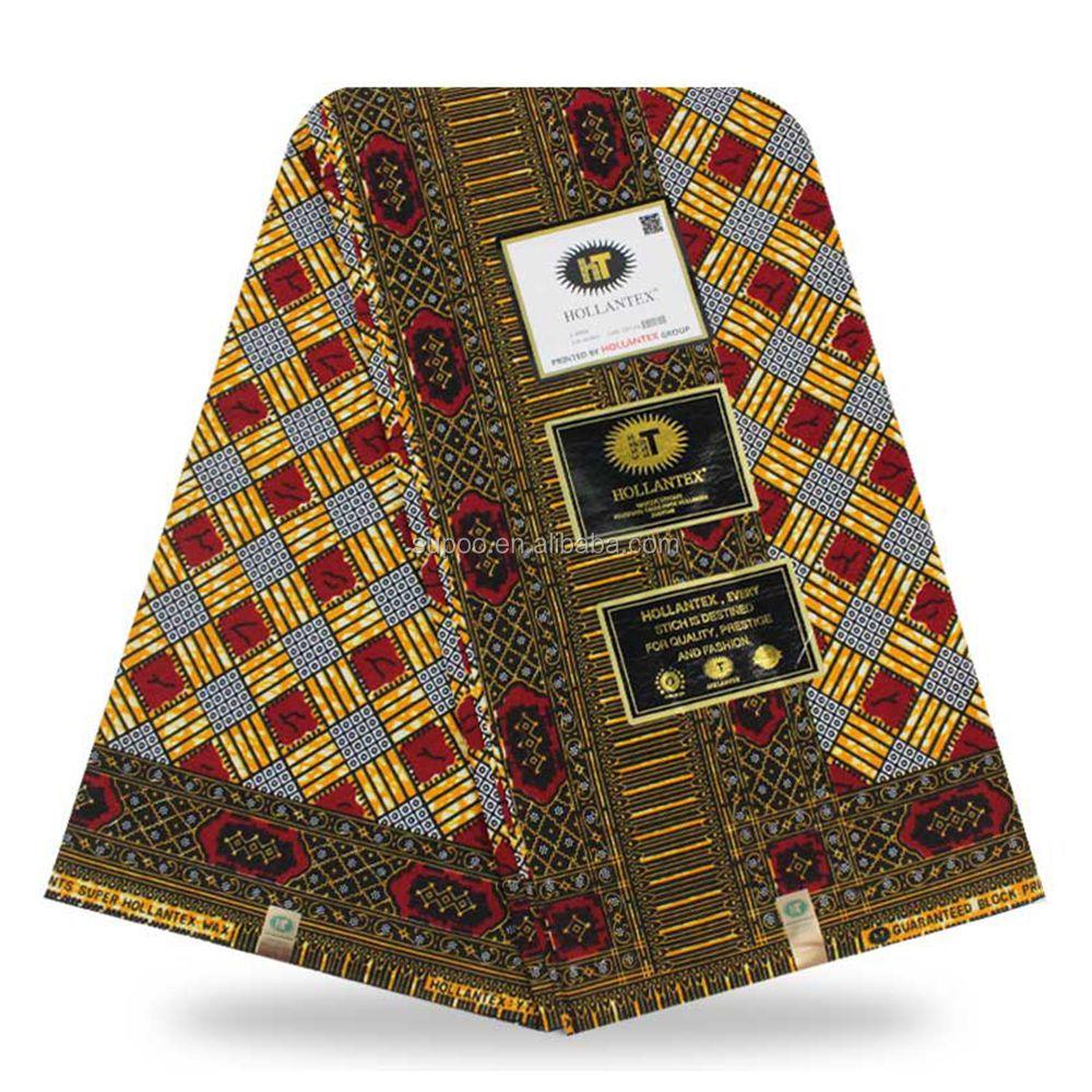 High quality hollantex wax printed farbic cotton ankara wax fabric