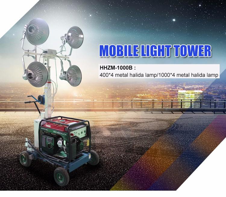 Diesel generator lighting tower portable