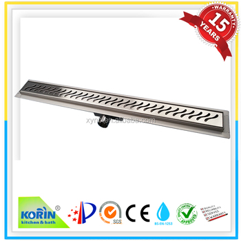 Factory Direct High Quality Stainless Steel Linear Shower Drain Channel Floor
