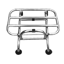 stainless steel silver scooter vespa GTS front luggage rack carrier