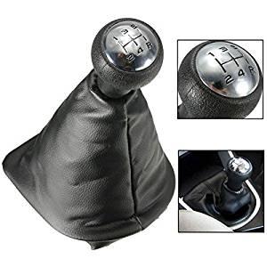 Pink Lizard 5 Speed Gear Shift Gaiter Knob For PEUGEOT 207 307 406 Black Chrome Leather