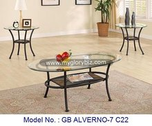 Living Room Furniture Glass Tables Sets For Coffee And Side, glass metal stone coffee + end table, coffee table set living room