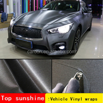 Car Styling Tungsten Steel Aluminium Metallic Matt Vinyl Wrap Car