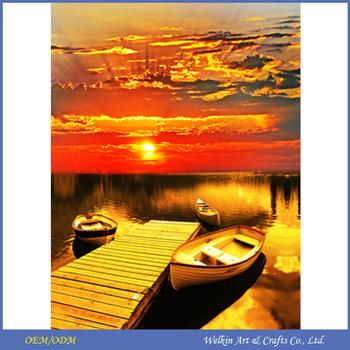 Led Duvar Ile Güzel Duvar Sanatı Günbatımı Manzara Tuval Boyama Buy Sunset Manzara Tuval Boyamasunset Manzara Tuval Boyama Ile Led