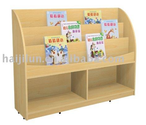 Preescolar mueble biblioteca estante para libros otros for Libros de muebles de madera