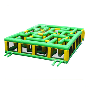 NEVERLAND TOYS Green Inflatable Maze Outdoor Inflatable Sports Game Popular Inflatable Obstacle Hot Sale