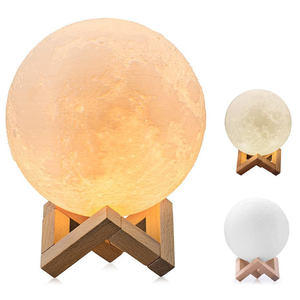 Led Night Light 3D Printing Moon Lamp Dimmable Touch Control Moon Night Light