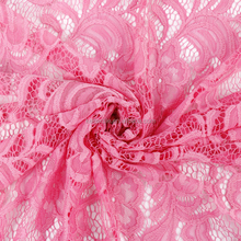 High Quality African Pink Tulle Lace Fabric For Wedding Dress, Garment