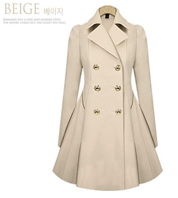 b452fe90ae675 Autumn Women Wool Blend Mustard Coat Ladies Tweed Overcoat Red Orange  Outwear Plus Size Coats Female Blend Winter Coats
