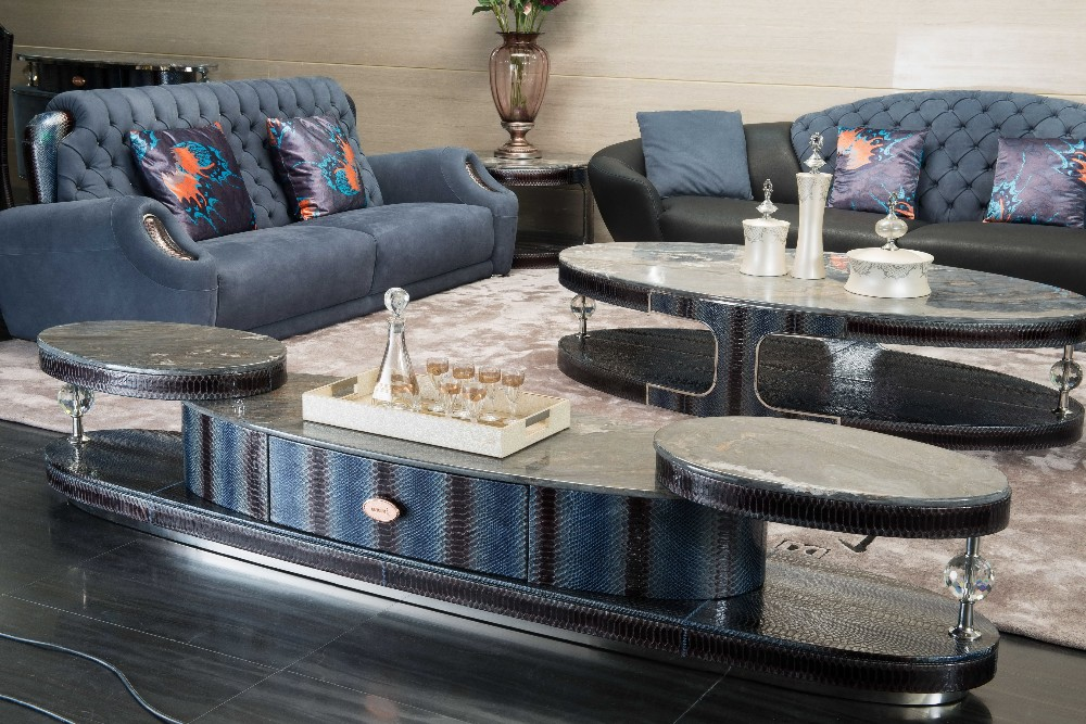 Luxury Italian palissandro blue marble TV stand, high-end oval shape TV  stand, full Italian leather livingroom furniture, View marble top tv stand,  ...