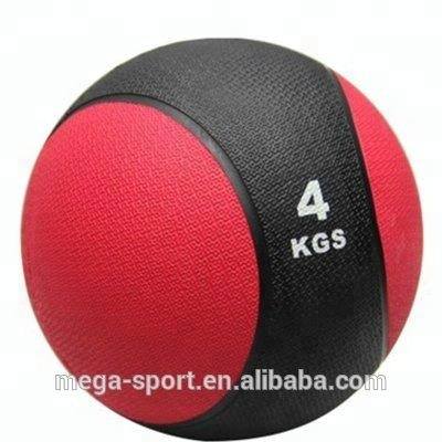 Crossfit 1kg 2kg 3kg 4kg different weight Rubber Material Two Color gym ball, rubber bouncing ball