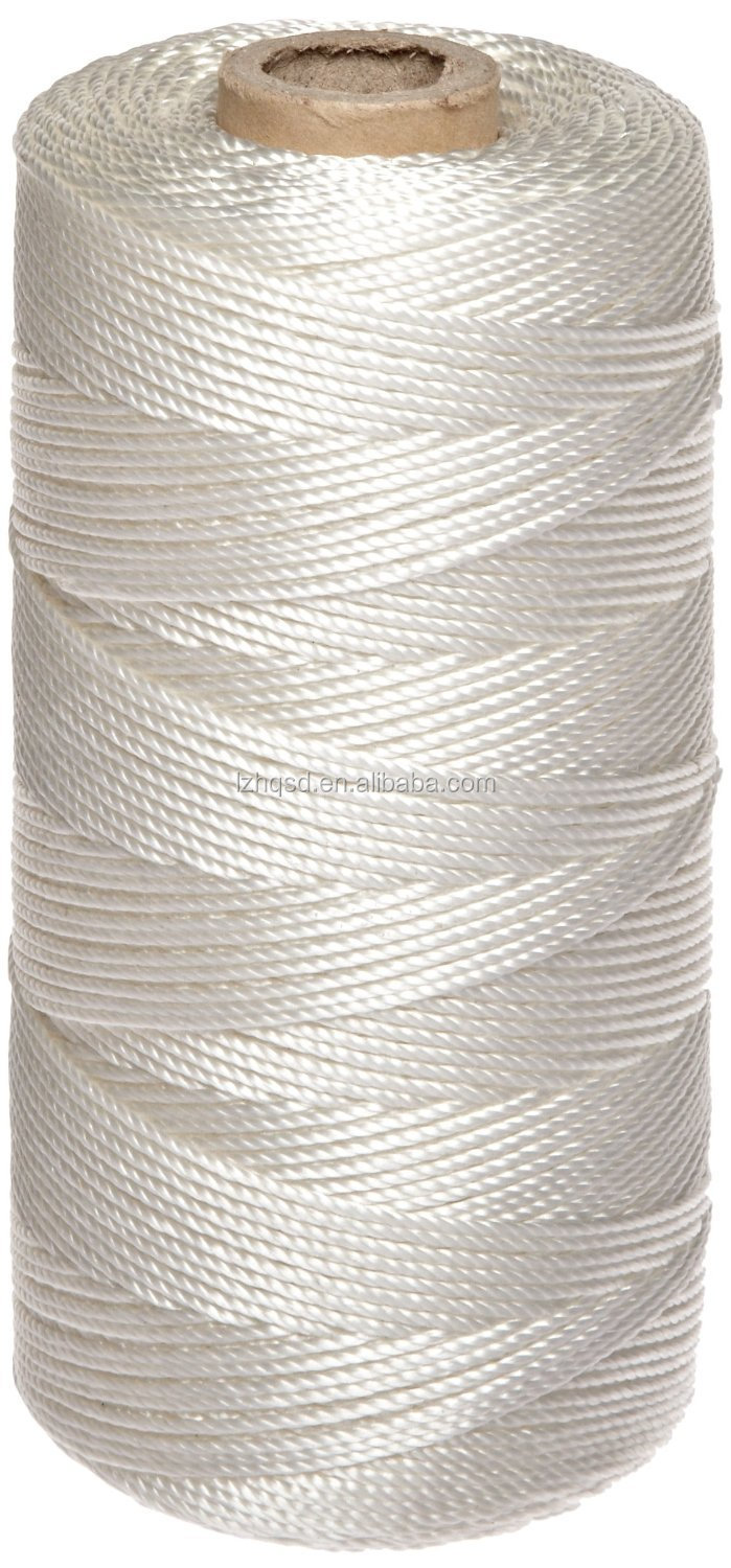 3mm White Nylon Braided Rope Use For Construction String