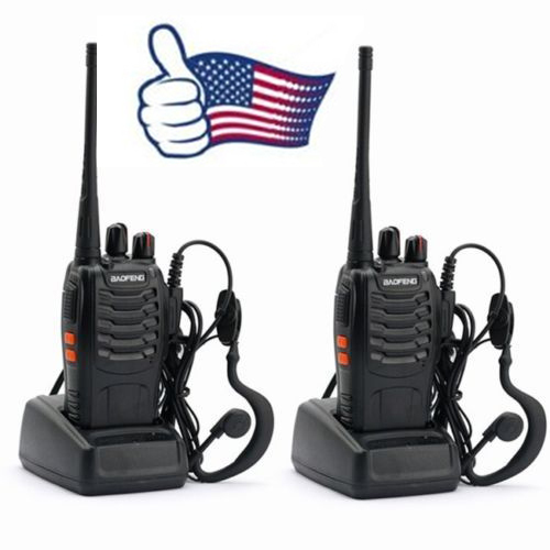 2x Pcs Baofeng BF-888s UHF 400-470MHz 5W 16CH DCS/CTCSS Two-way Ham Hand-held Radio Walkie Talkie 888s + Free Earpieces