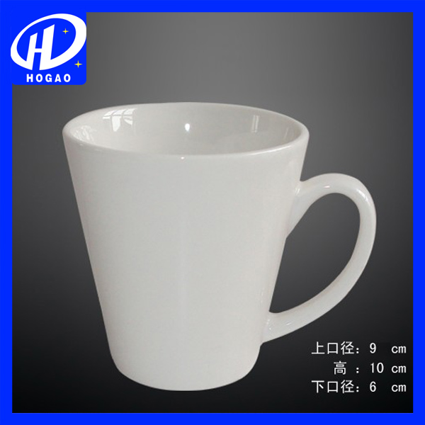 White Ceramic Water Cups Office Home Cup ,Custom Ceramic Mug
