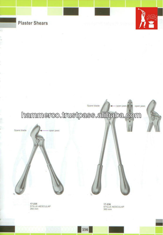Plaster Shears,Stille Aesculap Orthopedic Instruments - Buy Extraction  Pliers Vise Grip Round Pliers,Surgical Orthopedic Instruments,Surgical