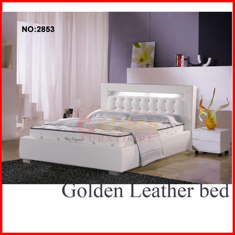 Made in china bed bed with lighted headboard B2853#