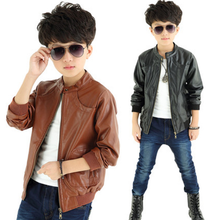 MS80168M Autumn Winter Kids Boys New Design Cool Thick Motorcycle Leather Jacket