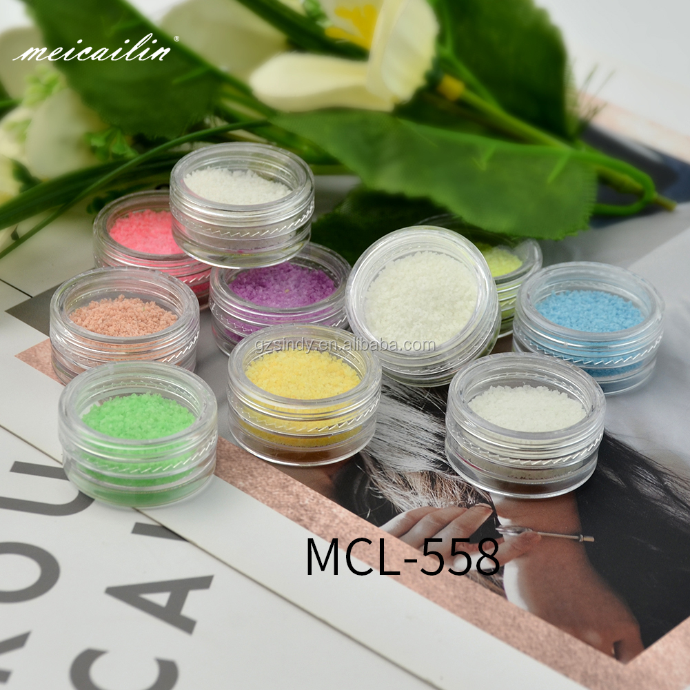 Nail Art Fluorescent Luminous Glitter Powder Sand Glow In Dark