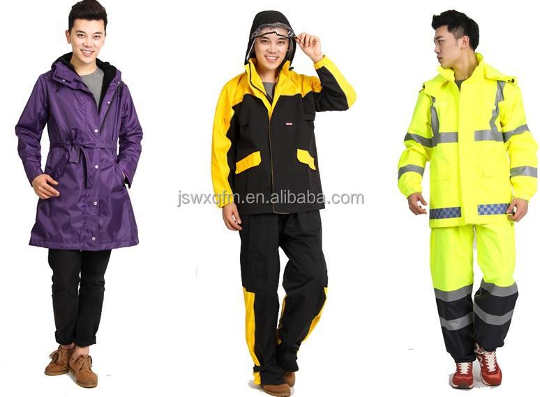 High Quality Outdoor Nylon Pu Long Raincoat For Men Or Ladiehigh ...